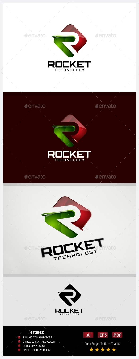 GraphicRiver Rocket Technology Logo 10430977