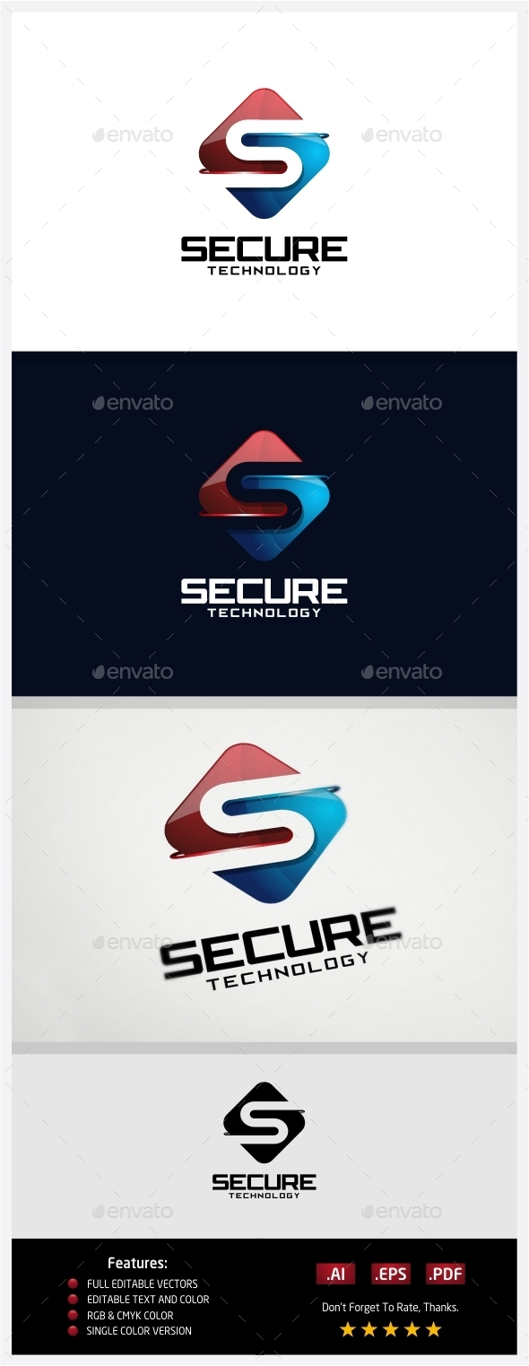 GraphicRiver Secure Technology Logo 10431017
