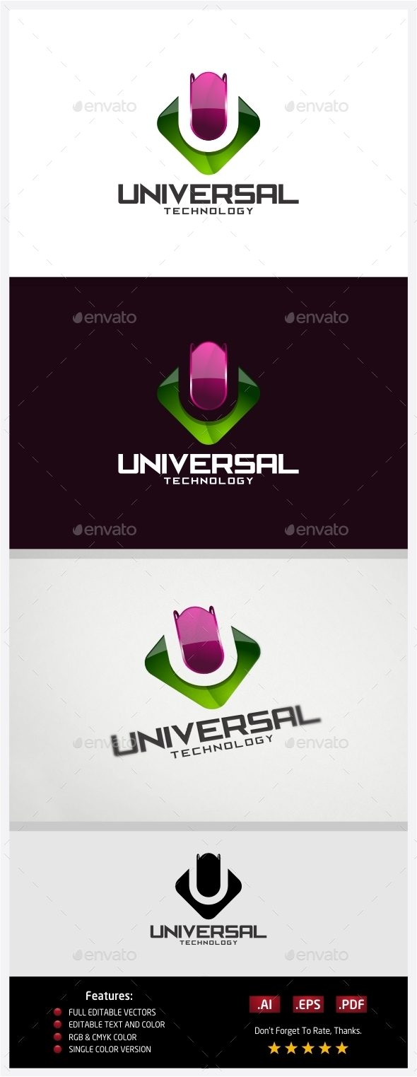 GraphicRiver Universal Technology Logo 10431046