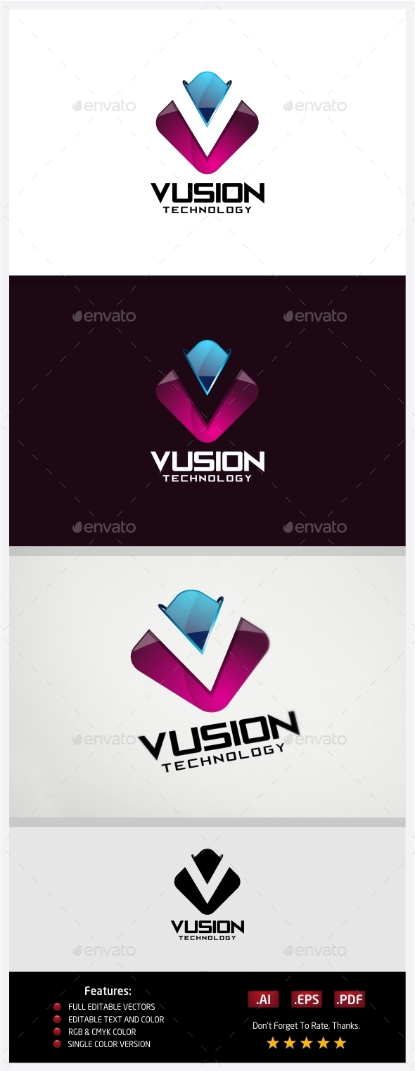 GraphicRiver Vusion Technology Logo 10431056