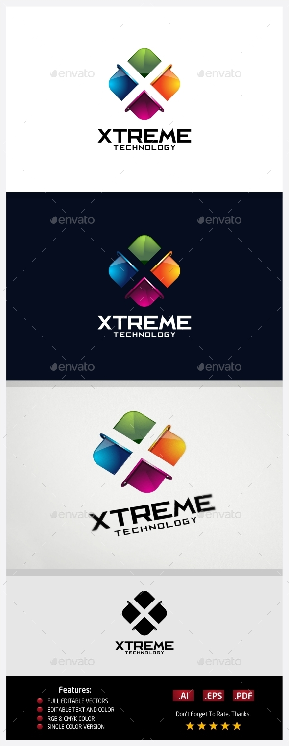 GraphicRiver Xtreme Technology Logo 10431080