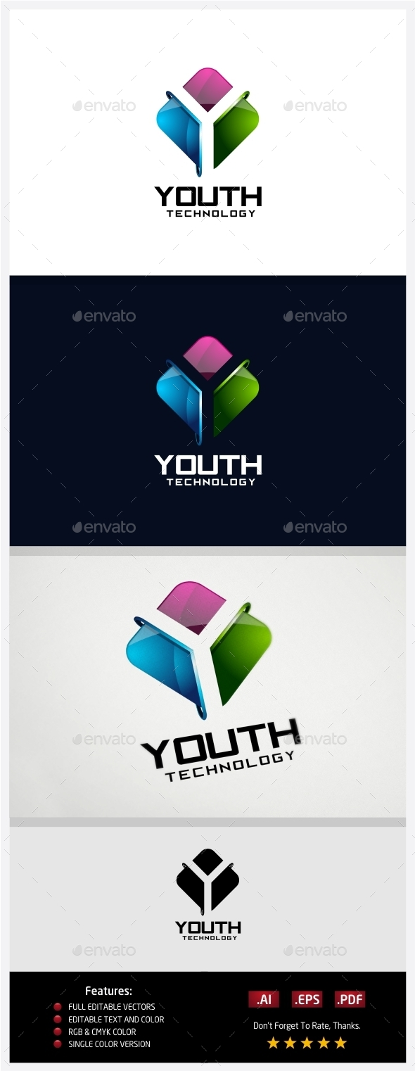 GraphicRiver Youth Technology Logo 10431087