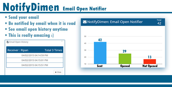 CodeCanyon NotifyDimen Email Open Notifier 10431117