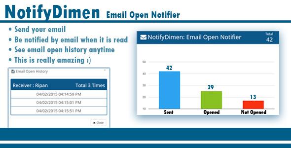CodeCanyon NotifyDimen Email Open Notifier 10431117