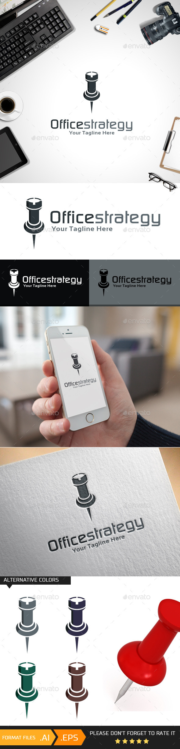 GraphicRiver Officestrategy Logo Template 10431123