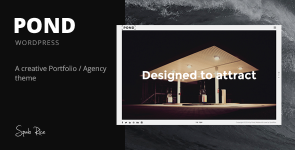 ThemeForest Pond Creative Portfolio Agency WordPress Theme 10395093