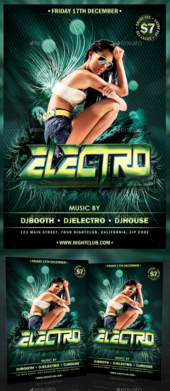 GraphicRiver Electro Party Flyer 10431590
