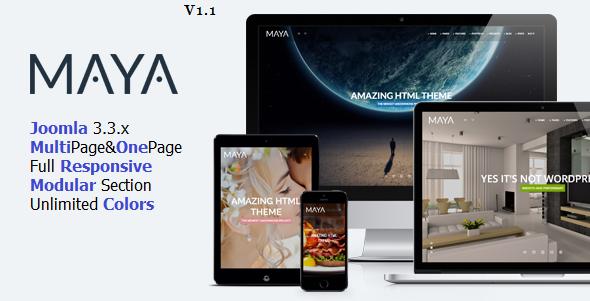 Maya - Smart & Powerful Joomla Theme