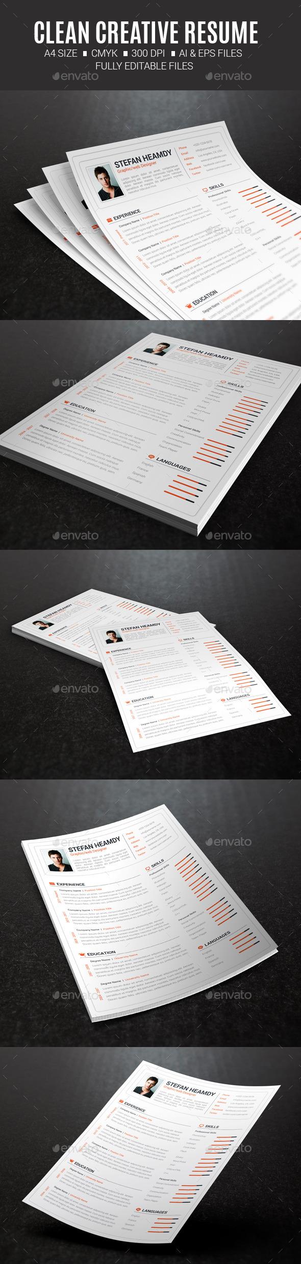 GraphicRiver Clean Creative Resume 10431728
