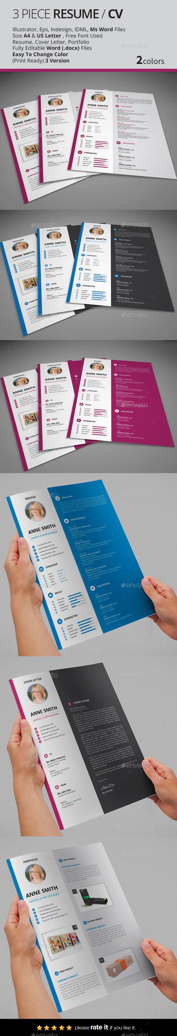 GraphicRiver Resume CV 10431766