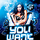 You Want Me | Flyer Template PSD - GraphicRiver Item for Sale