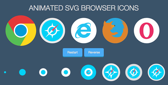 CodeCanyon Animated SVG Browser Icons 10431877