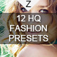 12 HQ Fashion Presets - GraphicRiver Item for Sale