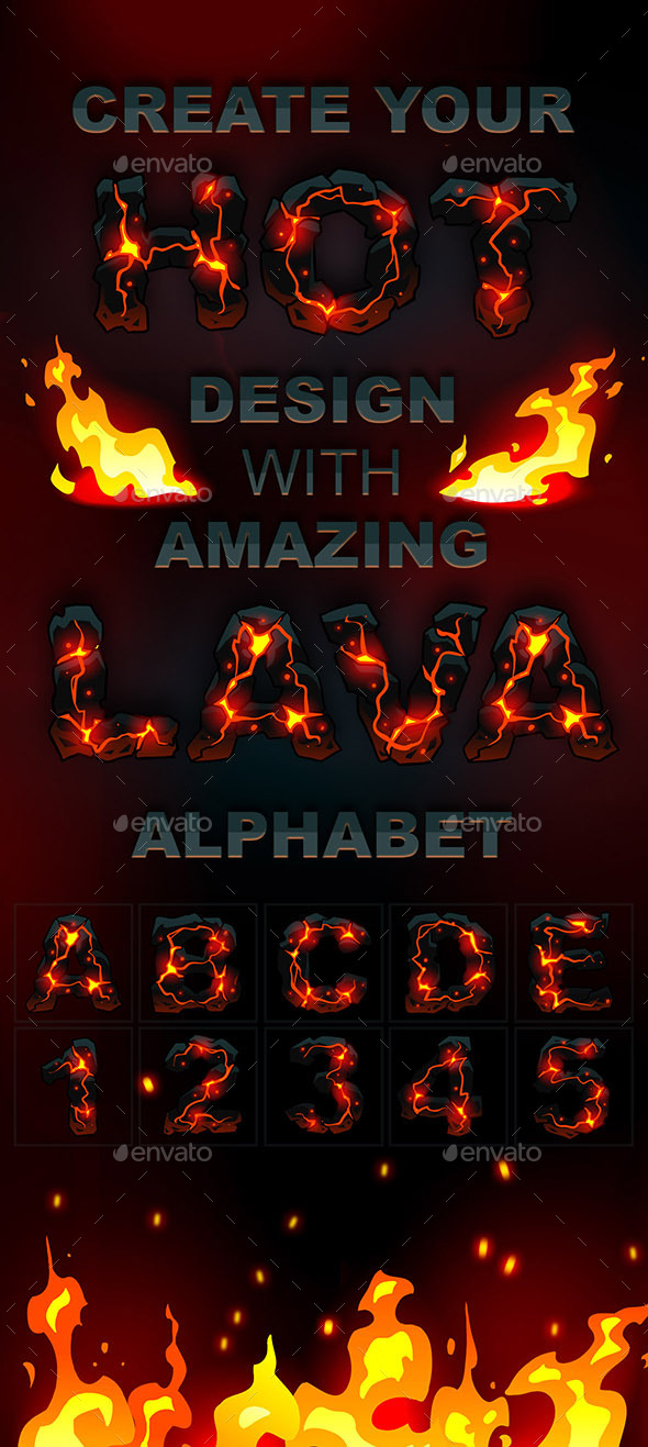 GraphicRiver Lava Handdraw Alphabet 10432244