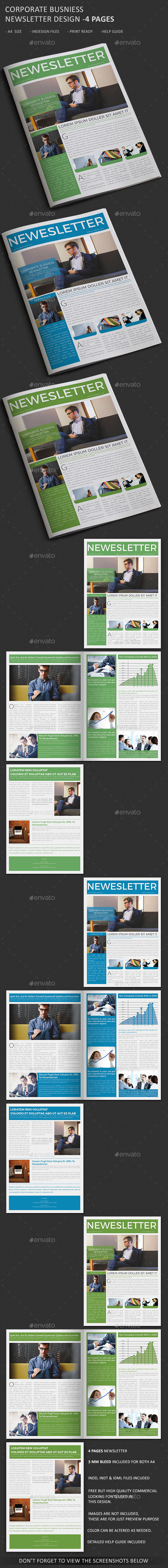 Corporate Business Newsletter 4 Page