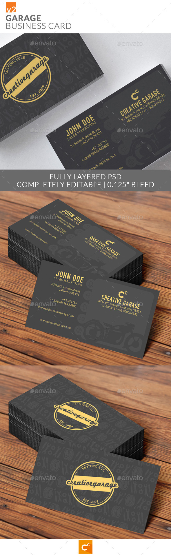 GraphicRiver Garage Business Cards v2 10432338