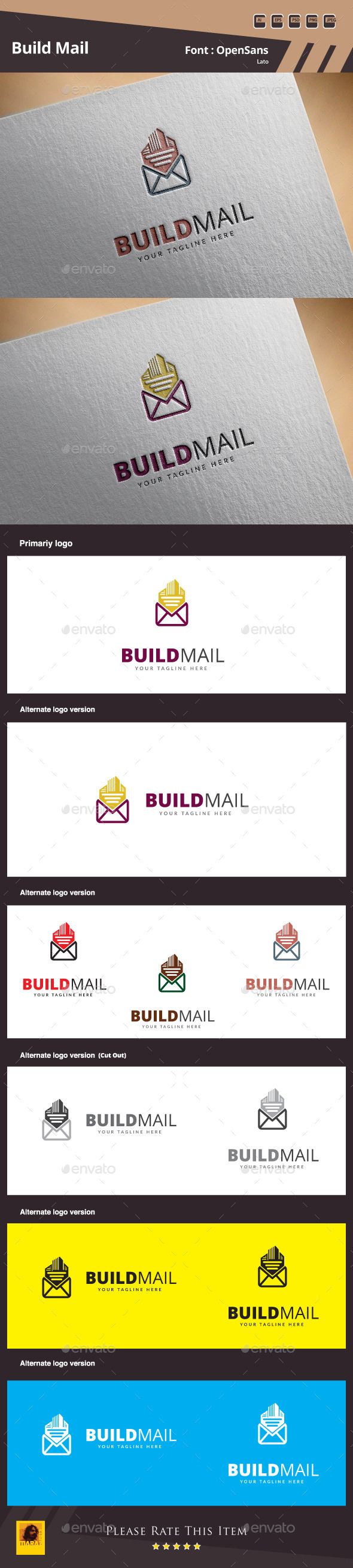 GraphicRiver Build Mail Logo Template 10432508