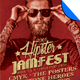 Hipster Jam Fest Flyer/Poster Template - GraphicRiver Item for Sale