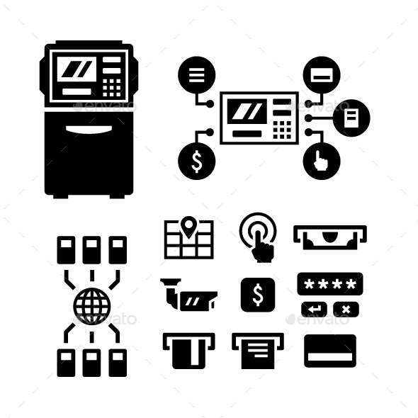GraphicRiver Set Icons of ATM 10433317