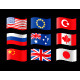 Nine Country Flags - GraphicRiver Item for Sale