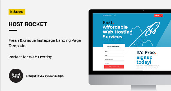 ThemeForest Host Rocket Instapage Template Web Hosting Landi 10433799