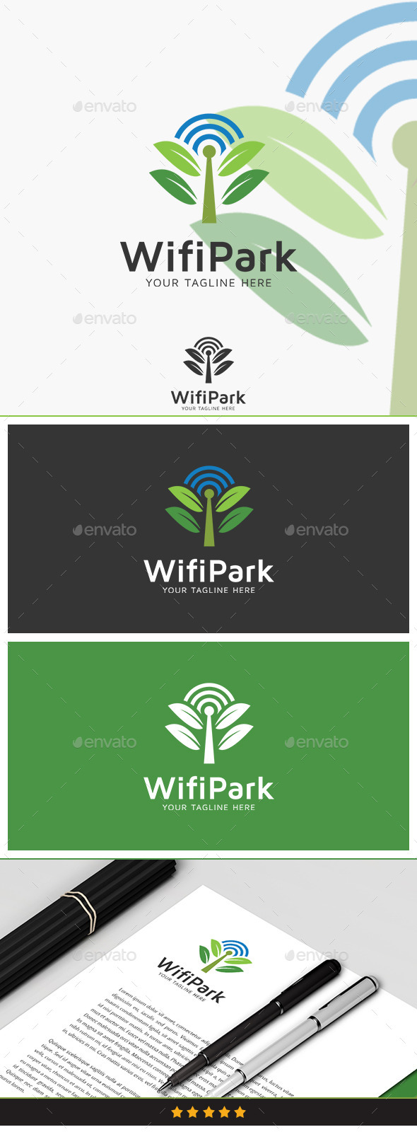 GraphicRiver Wifi Park Logo 10434014