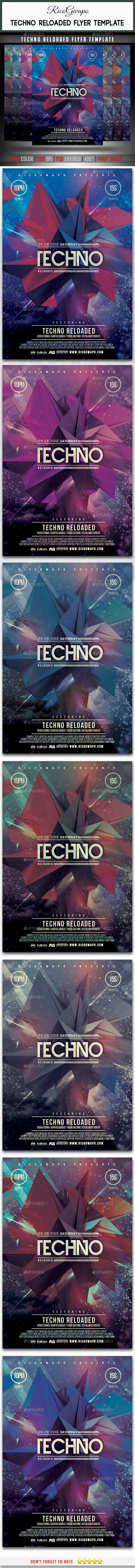 GraphicRiver Electro Reloaded Flyer Template 10434326