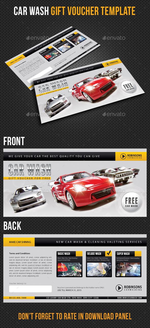 GraphicRiver Car Wash Gift Voucher Template V02 10434476