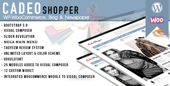 CadeoShopper Multipurpose WooCommerce Magazine