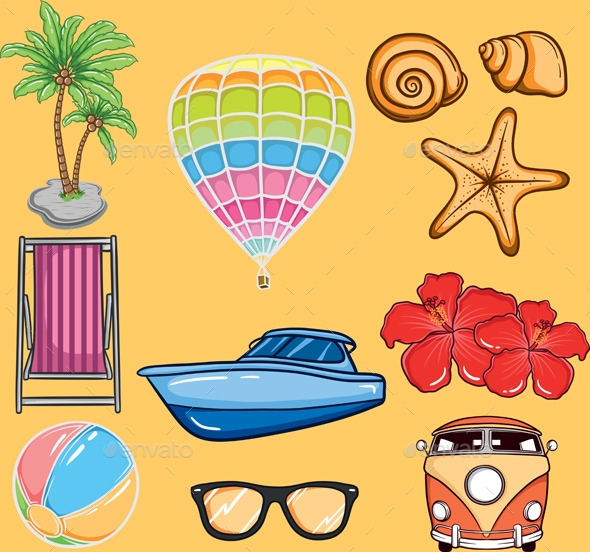 GraphicRiver Tropical Summer Vector 10434496