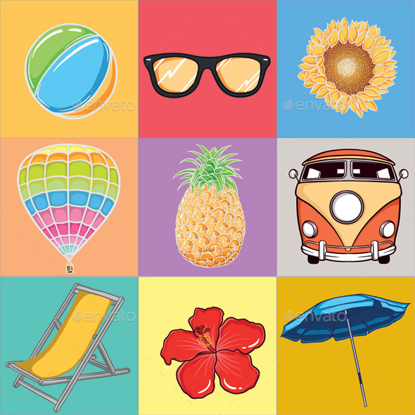 GraphicRiver Summer Vector 10434499