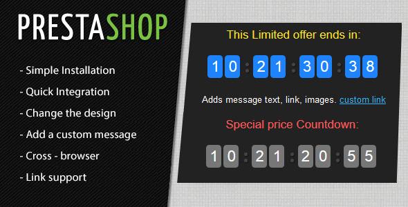 CodeCanyon Prestashop Countdown Discount Timer Module 10434511