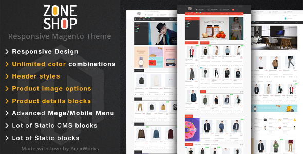 ThemeForest Zoneshop Multipurpose Responsive Magento Theme 10373452