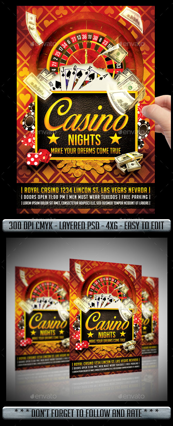 GraphicRiver Casino Flyer 10434512