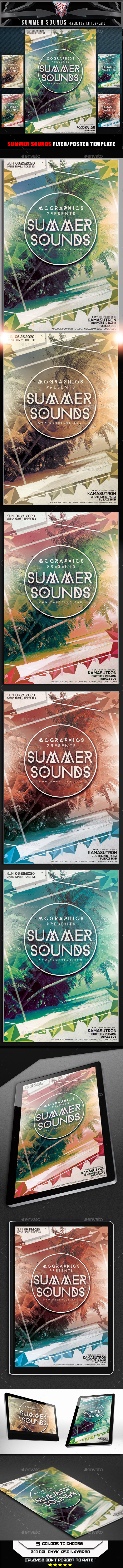 GraphicRiver Summer Sounds Flyer Template 10369891