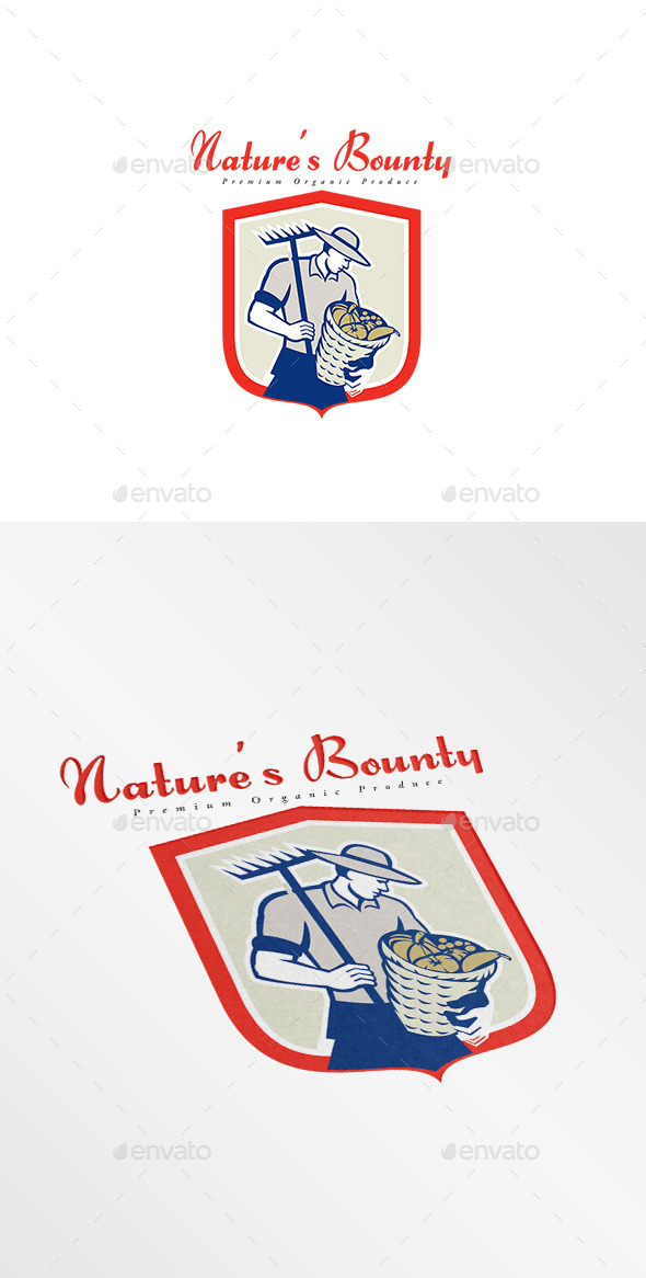 GraphicRiver Nature s Bounty Premium Organic Produce Logo 10434672