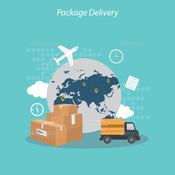GraphicRiver Package Delivery 10434686