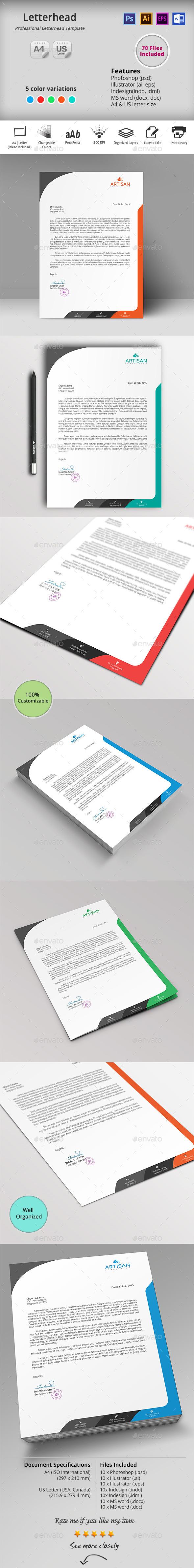 GraphicRiver Letterhead 10434694