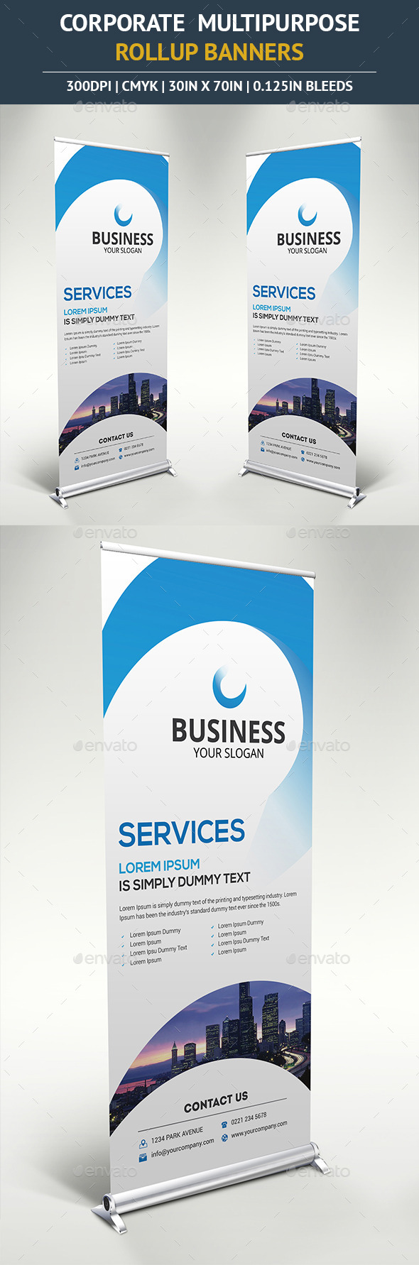 GraphicRiver Corporate Rollup Banner Vol4 10390459