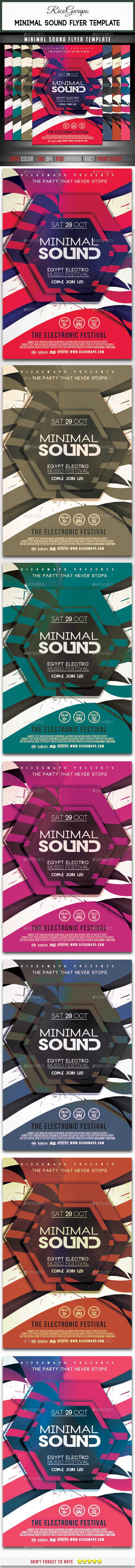 Minimal Sound Flyer Template