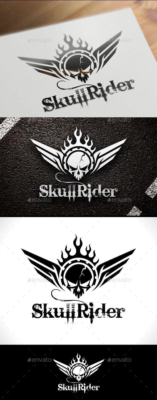Skull Rider Logo Template