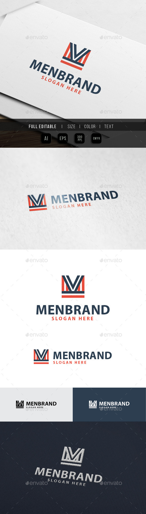 GraphicRiver Men Apparell M Letter Logo 10434908