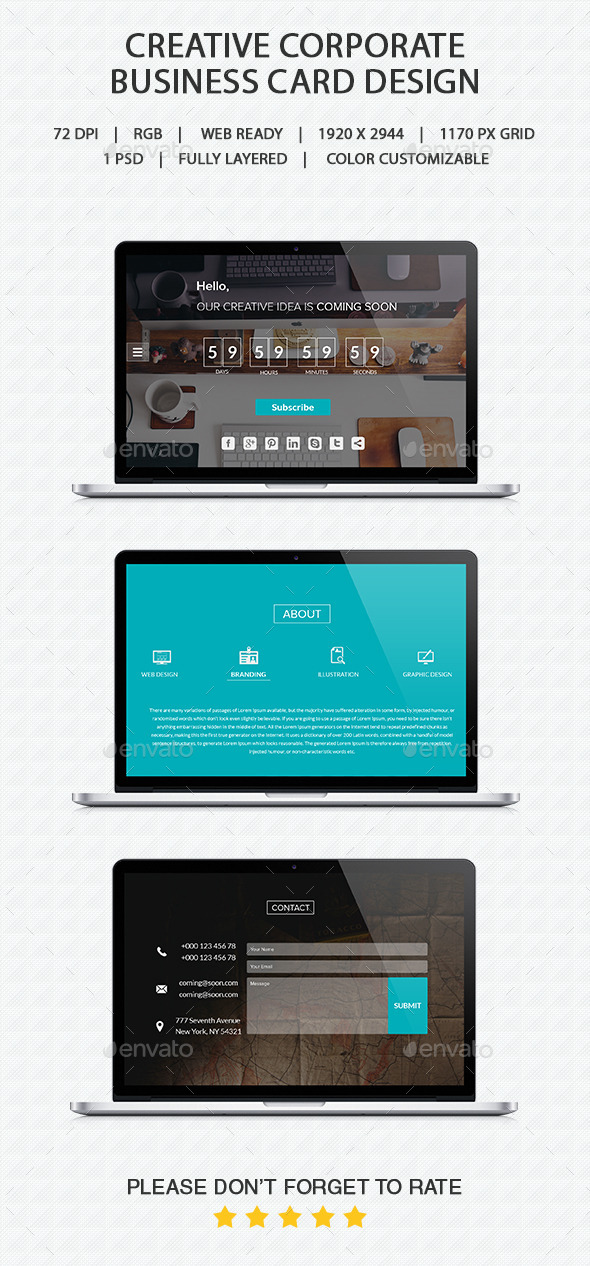 GraphicRiver Coming Soon PSD 10435171