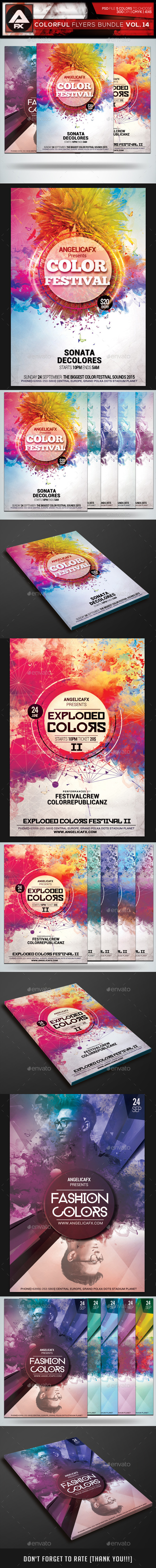 GraphicRiver Colorful Flyers Bundle Vol.14 10435445