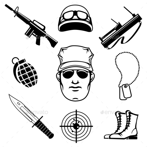GraphicRiver Military Icons 10435577