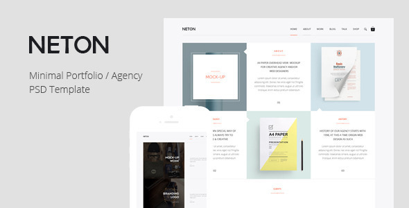 ThemeForest Neton Minimal Agency PSD Template 10357428