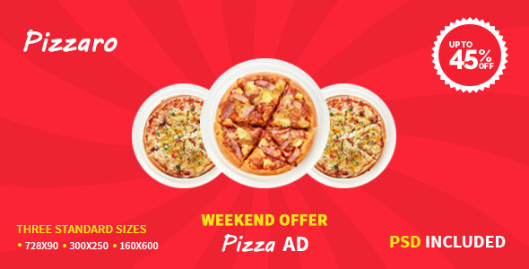 CodeCanyon Pizza Offer HTML5 Google Ad Template 10435729