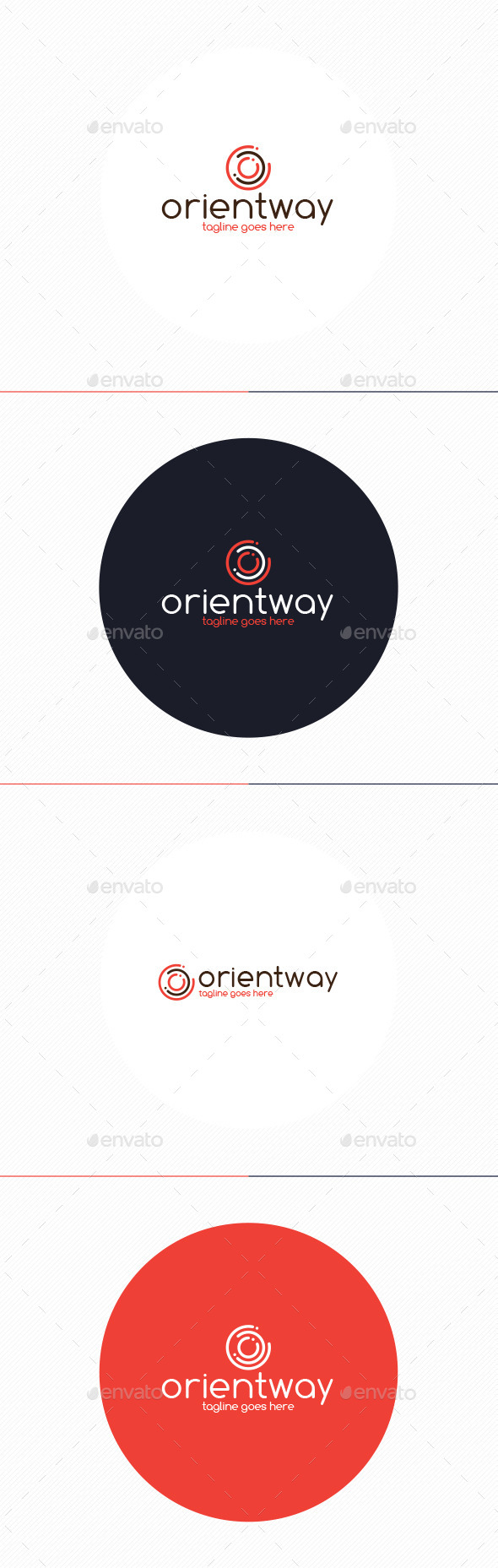 GraphicRiver Orient Way Logo Letter O 10435760