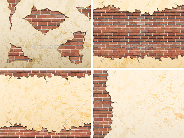 GraphicRiver Old Brick Wall Backgrounds 10435766