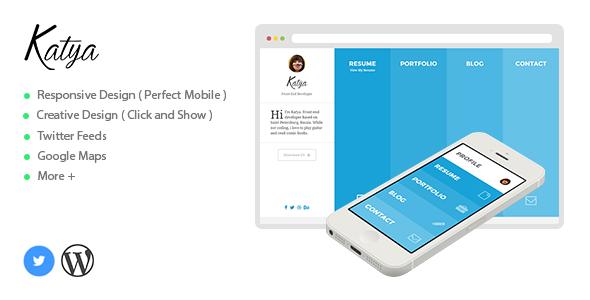 Katya - Responsive Creative CV WordPress Theme